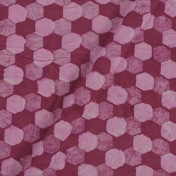 Dabu Cotton Rosewood Colour Geometric Hand Block Print 43 Inches Width Fabric
