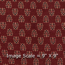 Gamathi Cotton Maroon Colour 43 Inches Width Double Kaam Natural Print  Fabric