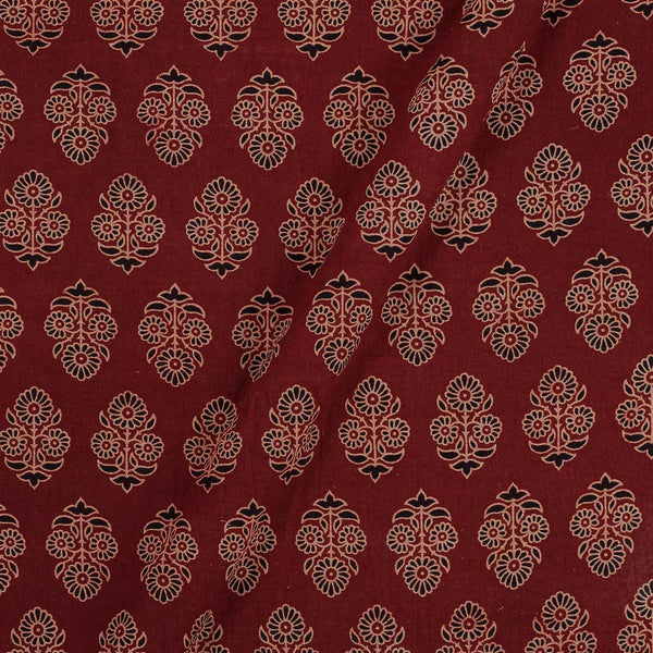 Gamathi Cotton Maroon Colour 45 Inches Width Floral Double Kaam Natural Print  Fabric