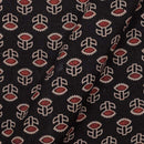 Gamathi Cotton Black Colour 43 Inches Width Double Kaam Natural Print Fabric
