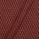 Gamathi Cotton Maroon Colour 43 Inches Width Paisley Double Kaam Natural Print  Fabric