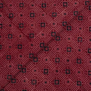 Maroon Color  Double Kaam Vegetable Print Gamathi Cotton Fabric