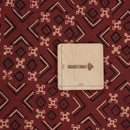 Gamathi Cotton Maroon Colour Geometric Double Kaam Vegetable Print 45 Inches Width Fabric