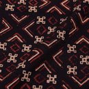 Gamathi Cotton Black Colour Geometric Double Kaam Vegetable Print 45 Inches Width Fabric