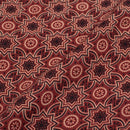 Gamathi Cotton Maroon Colour Double Kaam Natural Print  Fabric