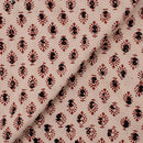 Gamathi Cotton Double Kaam Natural Print  Fabric