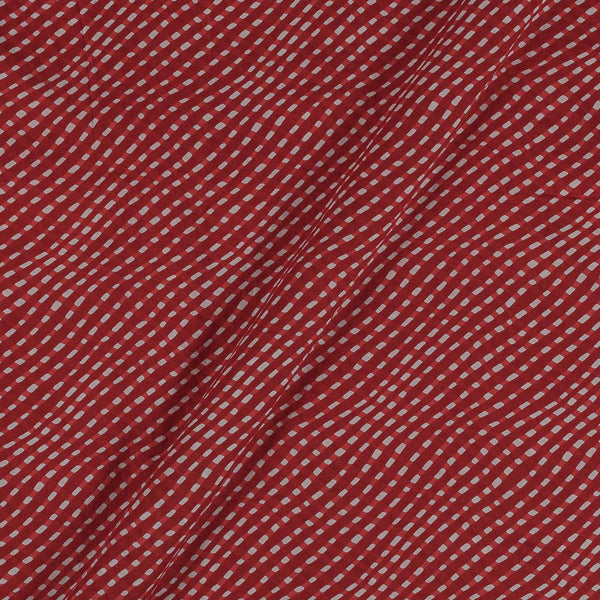 Soft Cotton Brick Red Colour Leheriya Print 42 Inches Width Fabric