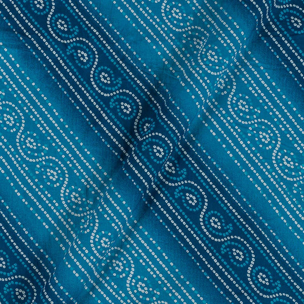Soft Cotton Light Blue Colour Bandhani Print 42 Inches Width Fabric