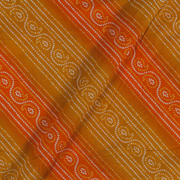 Soft Cotton Mustard Ornage Colour Bandhani Print 42 Inches Width Fabric