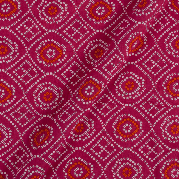 Soft Cotton Candy Pink Colour Bandhani Print 42 Inches Width Fabric