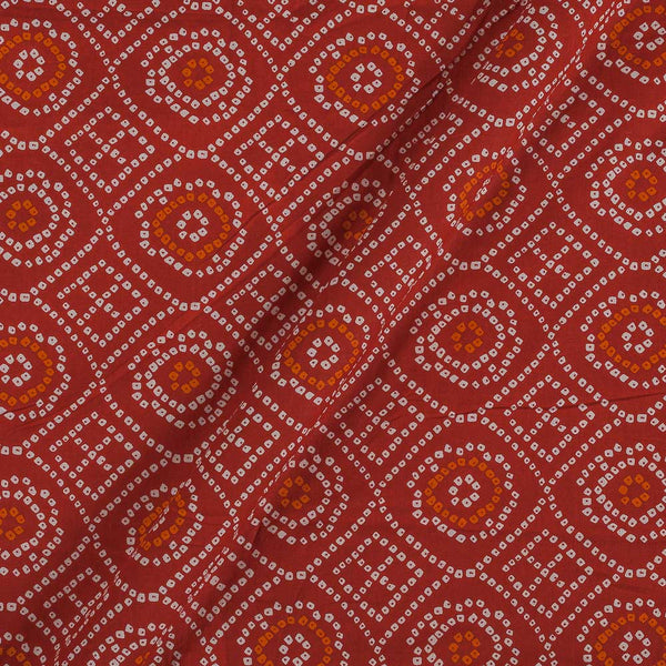 Soft Cotton Red Colour Bandhani Print 42 Inches Width Fabric