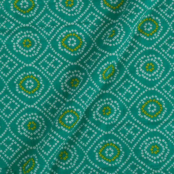Soft Cotton Mint Colour Bandhani Print 42 Inches Width Fabric