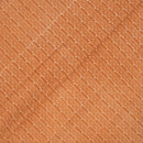 Sandy Orange Colour Striped Dabu Cotton Fabric
