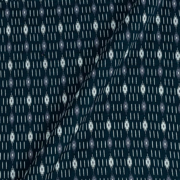 Cotton Teal Colour Ikat Inspired Print 42 Inches Width Fabric