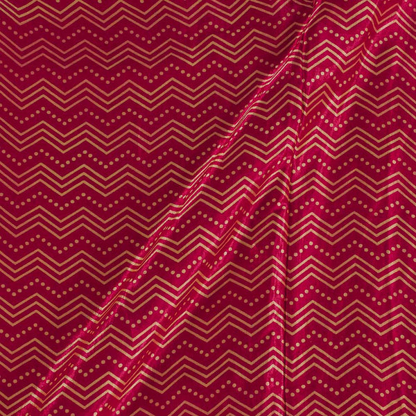 Gaji Crimson Colour 45 inches Width Chevron Print Fabric