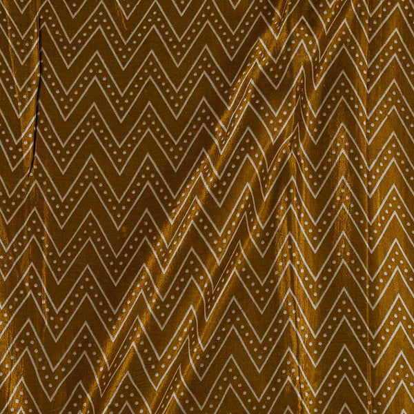 Gaji Bronze Colour 45 inches Width Chevron Print Fabric