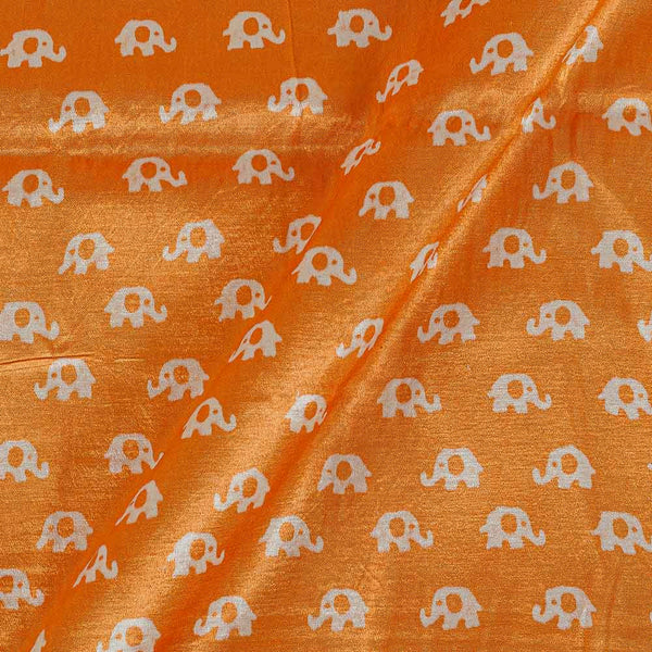 Gaji Apricot Orange Colour 45 inches Width Quriky Print Fabric