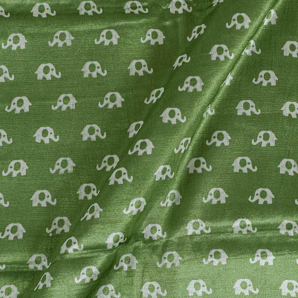 Gaji Pista Green Colour 45 inches Width Quriky Print Fabric
