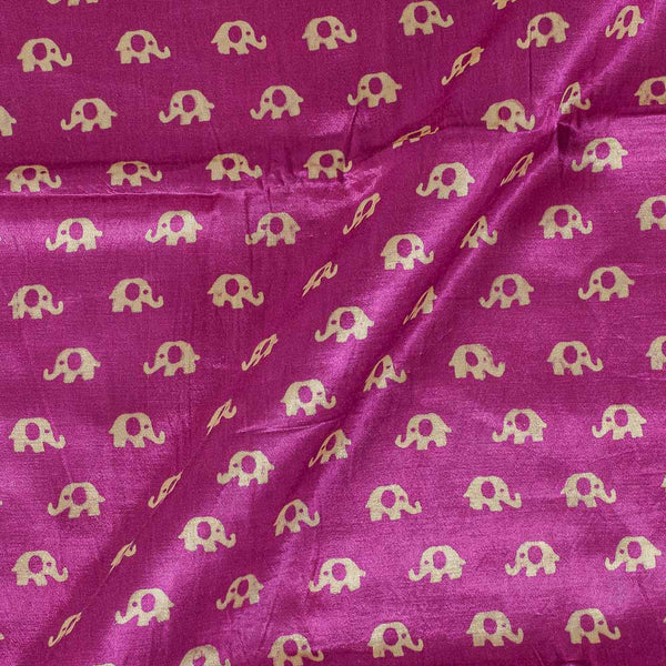 Gaji Hot Pink Colour 45 inches Width Quriky Print Fabric
