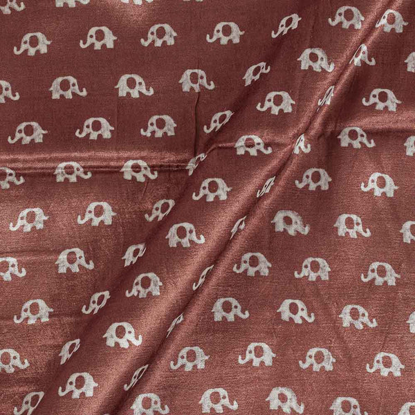Gaji Mauve Colour 45 inches Width Quriky Print Fabric