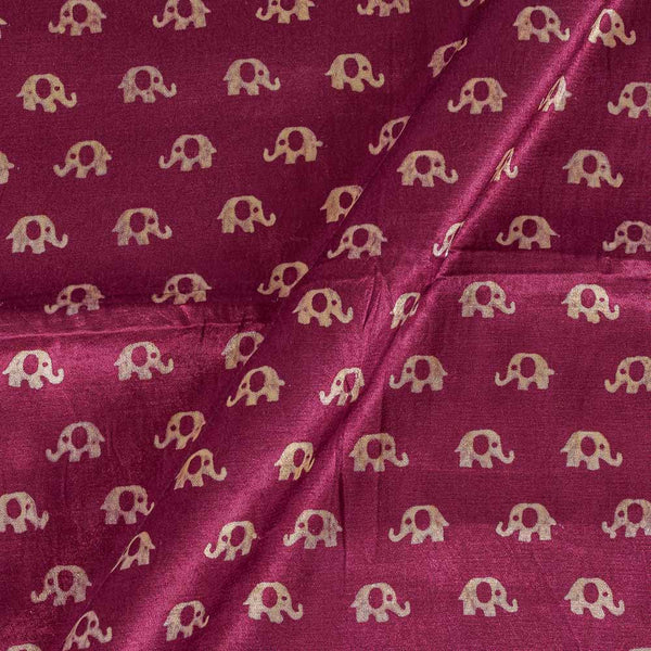 Gaji Wine Colour 45 inches Width Quriky Print Fabric