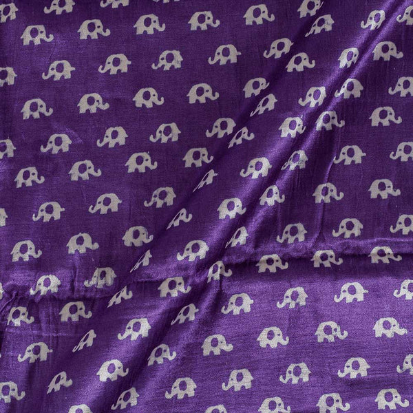 Gaji Purple Colour 45 inches Width Quriky Print Fabric