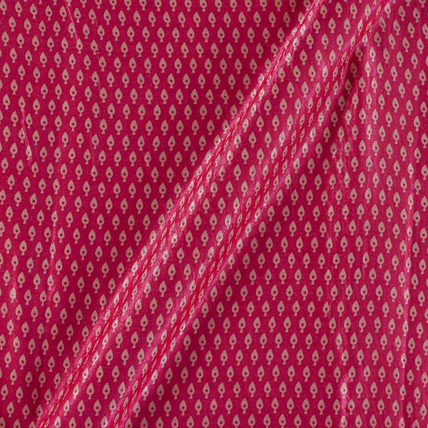 Gaji Hot Pink Colour 45 inches Width Leaves Print Fabric