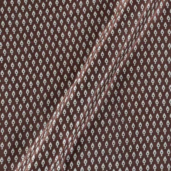 Gaji Dark Coffee Colour 45 inches Width Leaves Print Fabric