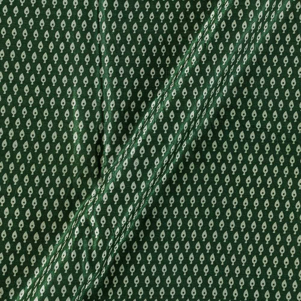 Gaji Bottle Green Colour 45 inches Width Leaves Print Fabric