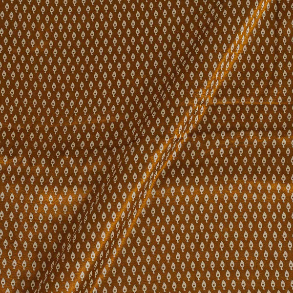 Mashru Gaji Rust Brown Colour 45 inches Width Leaves Print Fabric