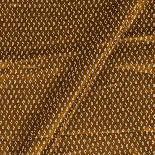 Mashru Gaji Bronze Colour 45 inches Width Leaves Print Fabric