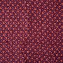 Mauve Colour Handblock Floral Jaal Print Viscose Chanderi Type Fabric