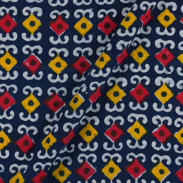 Dabu Cotton Indigo Geometric  Print  Fabric