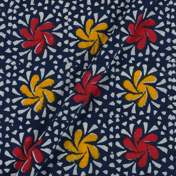 Dabu Cotton Indigo Floral Fabric