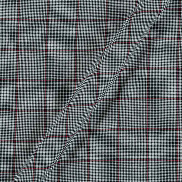 Cotton White and Black Colour 42 Inches Width 3x1 Checks Fabric