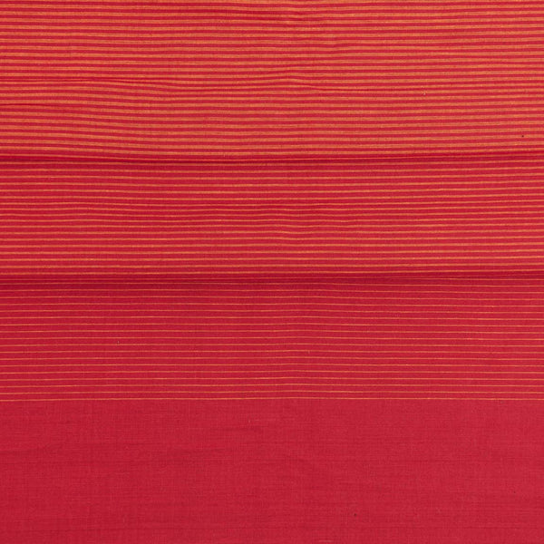 Cotton Red Colour 46 inches width Shaded Stripes Cotton Fabric