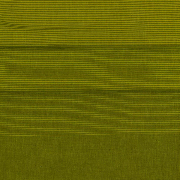 Cotton Mehndi Green Colour 46 inches width Shaded Stripes Cotton Fabric
