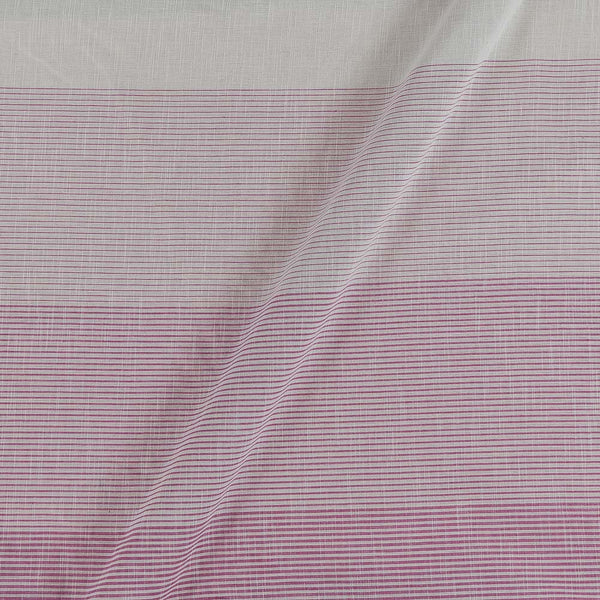 Cotton Off White To Pink Colour 45 inches width Shaded Stripes Cotton Fabric