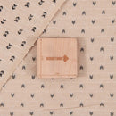 Dobby Jacquard Cotton Beige Colour 43 inches Width Geometric Pattern Fabric