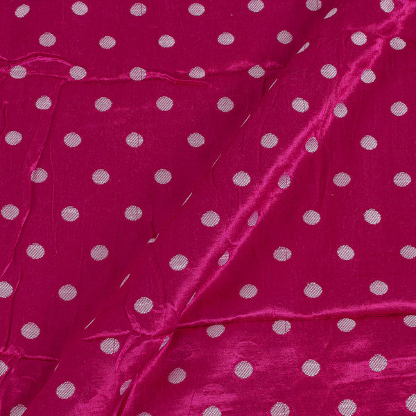 Gaji Hot Pink Colour 45 inches Width Silver Butti Fabric