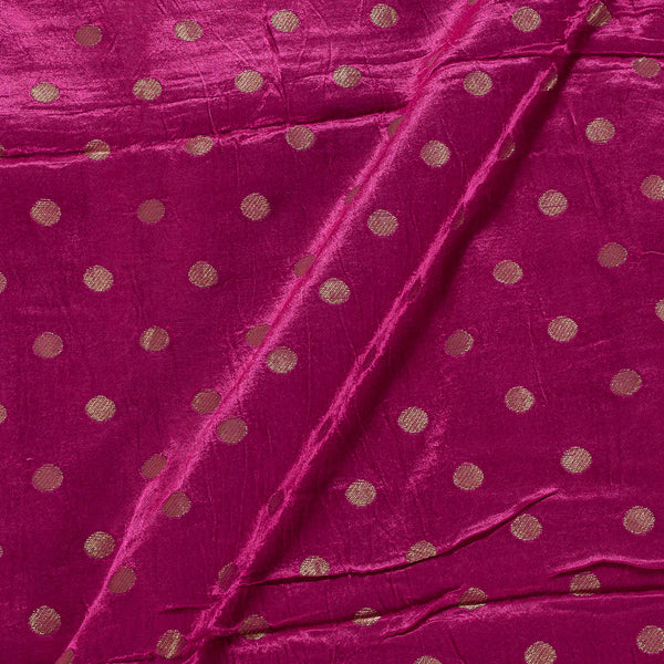 Gaji Hot Pink Colour 45 inches Width Gold Butti Fabric