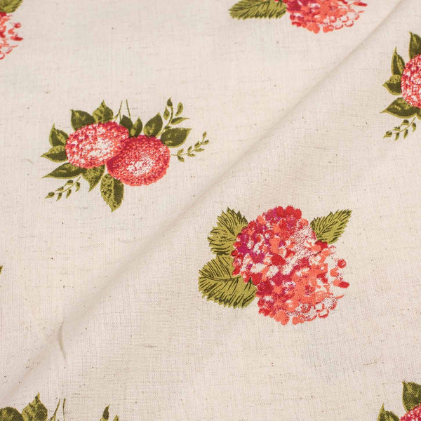 Off White Colour Quirky Print 42 inches Width Flex Cotton Fabric