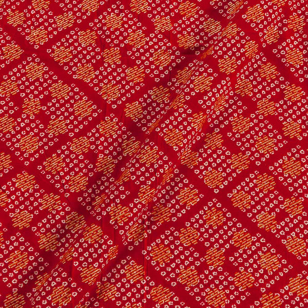 Rayon Poppy Red Colour 43 Inches Width Foil Print  Fabric