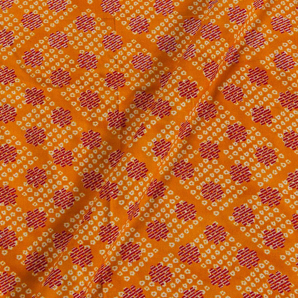 Rayon Golden Yellow Colour 43 Inches Width Foil Print  Fabric