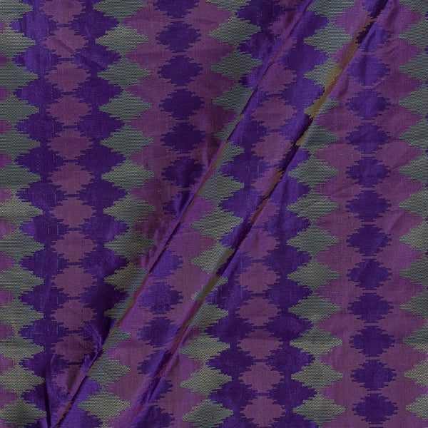 Silk Feel Jacquard Violet Colour Ikat Pattern 47 Inches Width Fabric