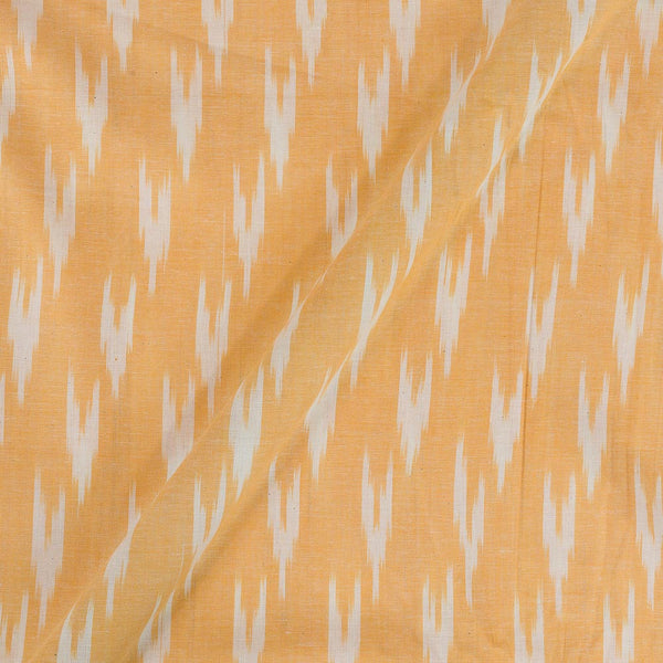 Cotton Light Yellow Colour Woven Ikat Type Fabric
