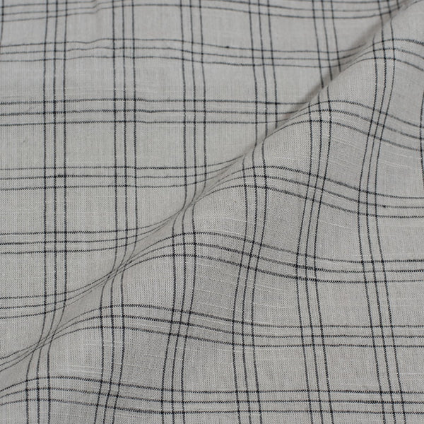 Cotton Smoke colour 42 inches Width Honey Box Checks Jacquard Fabric