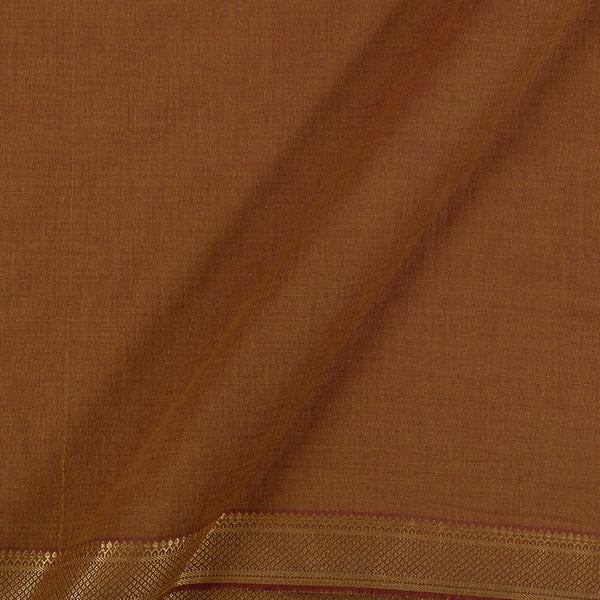 Mangalgiri Cotton Brown Two Tone Nizam Border Fabric