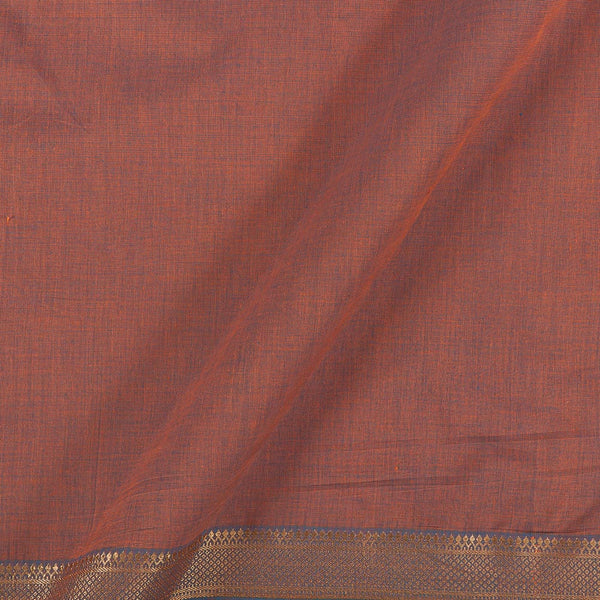 Mangalgiri Cotton Lavender To Blue Two Tone Nizam Zari Border Fabric