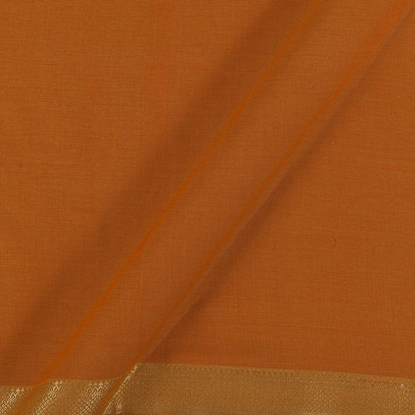 Mangalgiri Cotton Rust Two Tone Nizam Zari Border Fabric